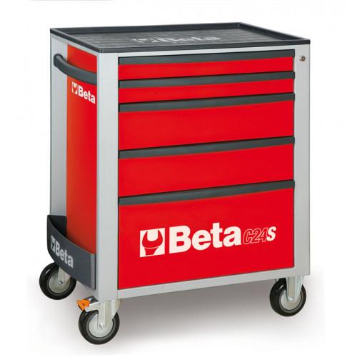 Wózek narzędziowy C24S5 z zestawem 91 narzędzi Beta 2400S5-R/VU1M