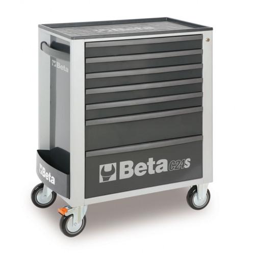 Wózek narzędziowy C24S7 szary z zestawem 215 narzędzi Beta 2400S7/M7/G