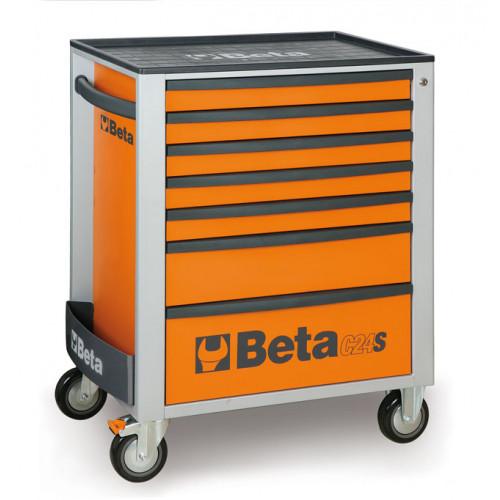 Wózek narzędziowy C24S7 pomarańczowy z zestawem 215 narzędzi Beta 2400S7/M7/O