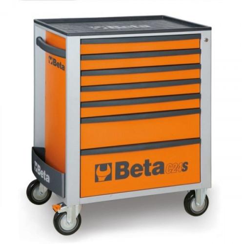 Wózek narzędziowy pomarańczowy z zestawem 274 narzędzi Beta 2400S7/TRUCK/O