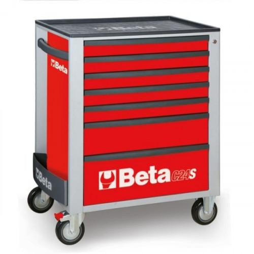 Wózek narzędziowy czerwony z zestawem 274 narzędzi Beta 2400S7/TRUCK/R