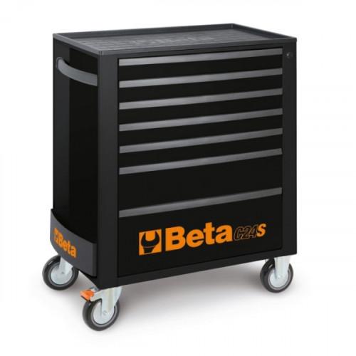 Wózek narzędziowy z 7 szufladami czarny Beta 2400/C24S7N