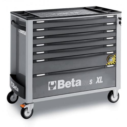 Wózek narzędziowy z 7 szufladami z systemem zabezpieczającym przed przewróceniem Beta 2400/C24SAXL/7-G