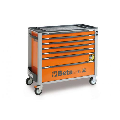 Wózek narzędziowy z 7 szufladami z systemem zabezpieczającym przed przewróceniem Beta 2400/C24SA-XL7/O