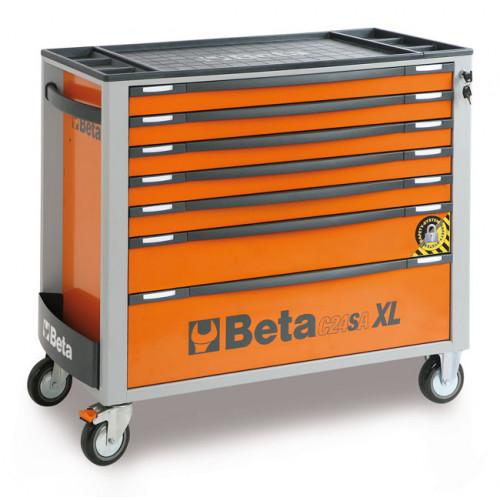 Wózek narzędziowy pusty z 7 szufladami z systemem zabezpieczającym przed przewróceniem Beta 2400/C24SAXL/7-O