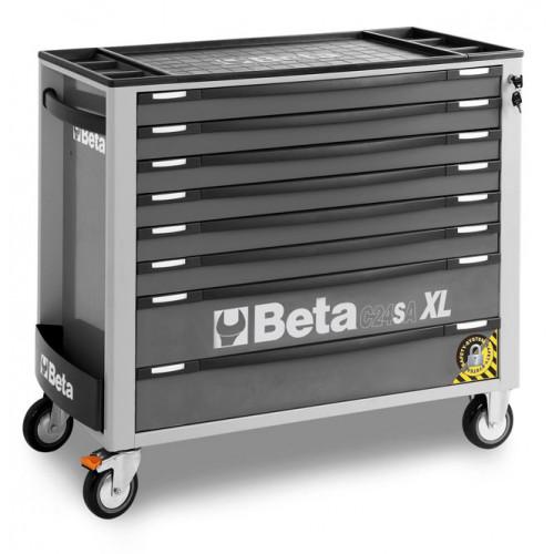 Wózek narzędziowy z 8 szufladami z systemem zabezpieczającym przed przewróceniem Beta 2400/C24SAXL8/G