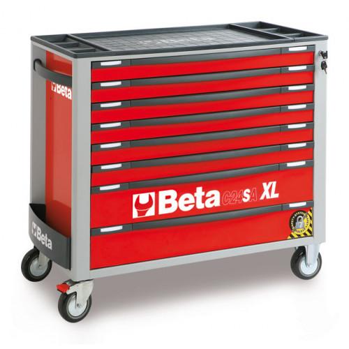Wózek narzędziowy z 8 szufladami z systemem zabezpieczającym przed przewróceniem Beta 2400/C24SAXL8/R