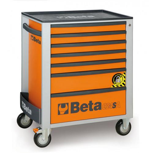 Wózek narzędziowy z siedmioma szufladami, z systemem zabezpieczającym przed przewróceniem, Beta C24SA/7 - 2400SA7
