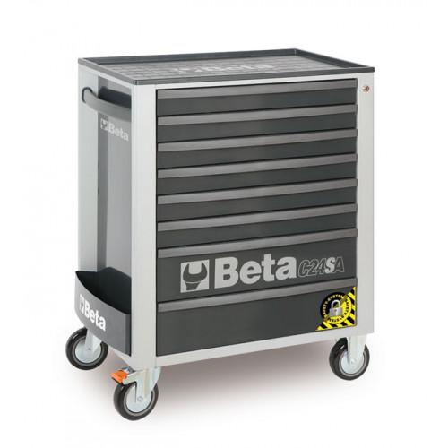 Wózki narzędziowe z 8 szufladami z systemem zabezpieczającym przed przewróceniem Beta 2400/C24SA/8-G