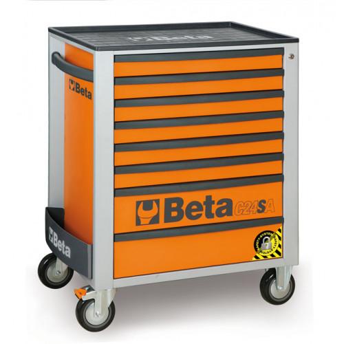 Wózki narzędziowe z 8 szufladami z systemem zabezpieczającym przed przewróceniem Beta 2400/C24SA/8-O
