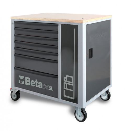 Wózek narzędziowy z 7 szufladami i szafką Beta C24SL-CABG