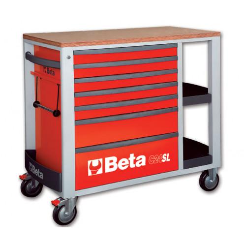 Wózek narzędziowy C24SL z zestawem 151 narzędzi Beta 2400SL-R/VI2T