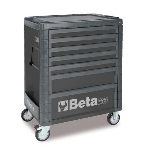 Wózek narzędziowy C33 szary z zestawem 215 narzędzi Beta 3300C7/M7/G