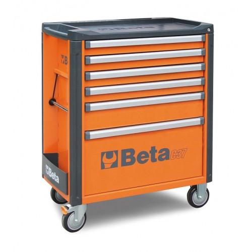 Wózek narzędziowy bez wyposażenia z 6 szufladami Beta 3700/C37/6-O