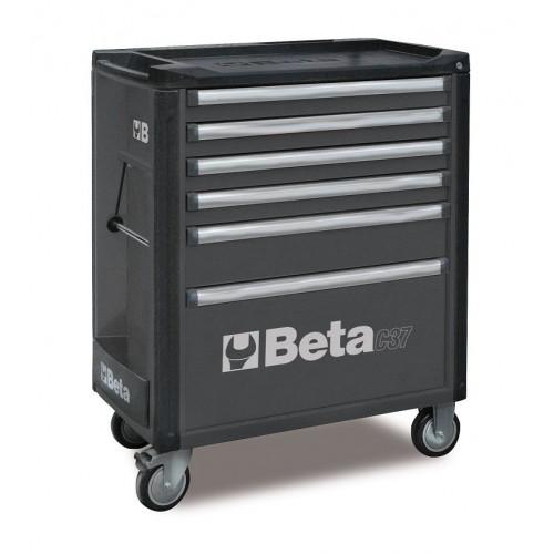 Wózek narzędziowy bez wyposażenia z 6 szufladami Beta 3700/C37/6-G