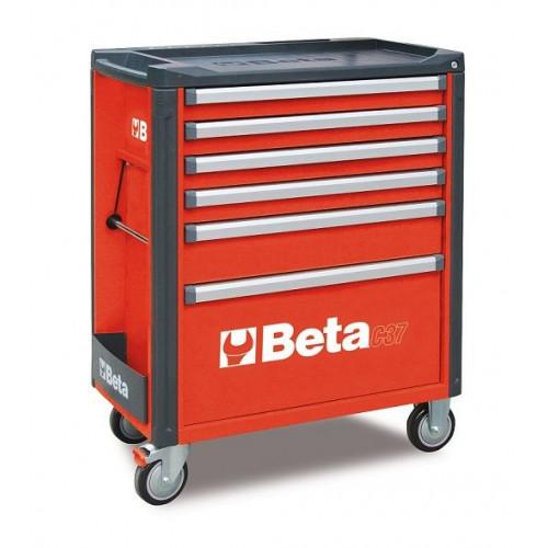 Wózek narzędziowy bez wyposażenia z 6 szufladami Beta 3700/C37/6-R