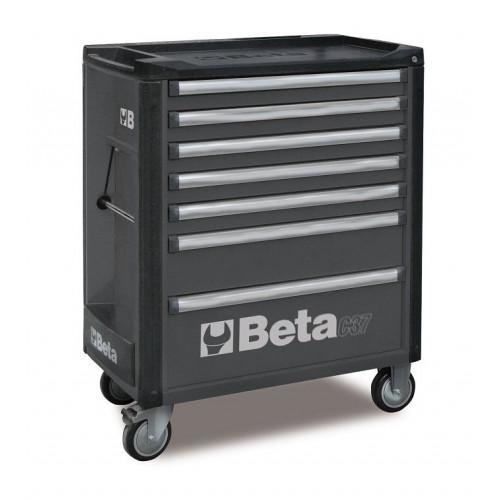 Wózek narzędziowy bez wyposażenia z 7 szufladami Beta 3700/C37/7-G