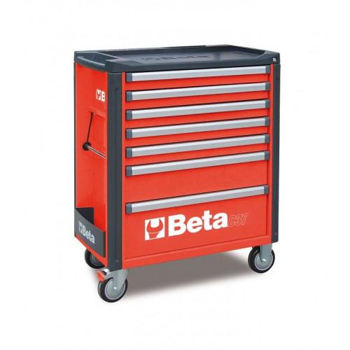 Wózek narzędziowy bez wyposażenia z 7 szufladami Beta 3700/C37/7-R
