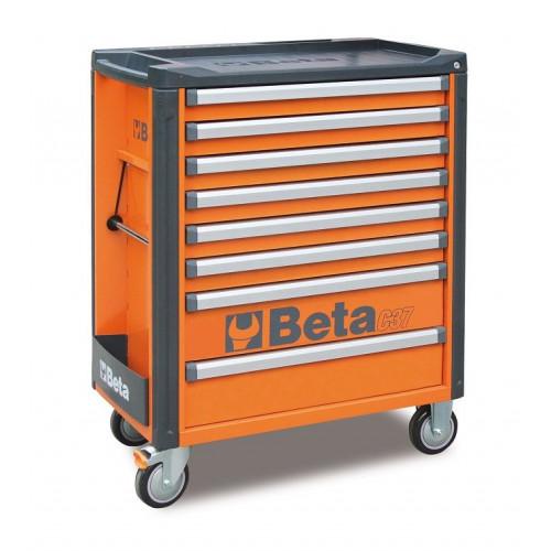 Wózek narzędziowy bez wyposażenia z 7 szufladami Beta 3700/C37/8-O
