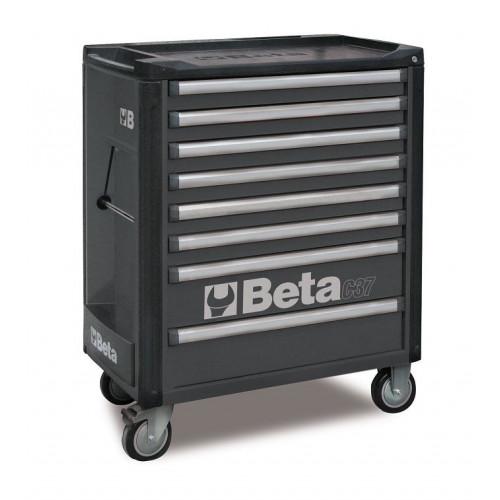 Wózek narzędziowy bez wyposażenia z 7 szufladami Beta 3700/C37/8-G