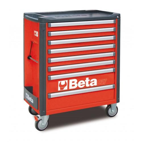 Wózek narzędziowy bez wyposażenia z 7 szufladami Beta 3700/C37/8-R