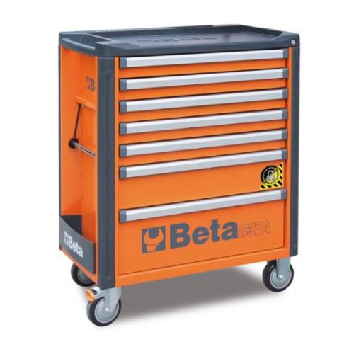 Wózek narzędziowy pusty z 7 szufladami z systemem zabezp. przed przewróceniem Beta 3700/C37A/7-O