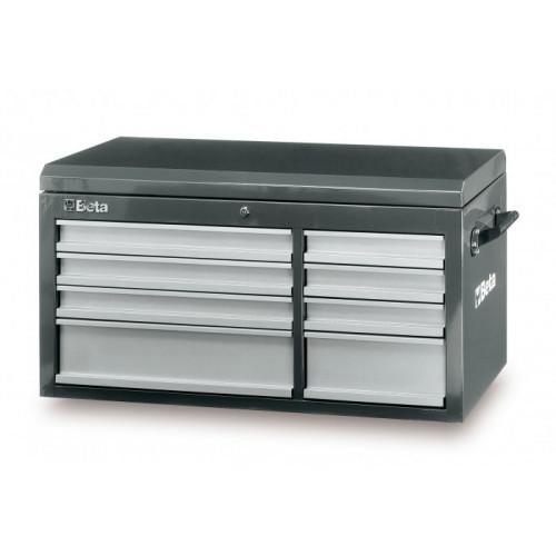 Skrzynie narzędziowe z 8 szufladami i górnym pojemnikiem Beta 3800/C38TG