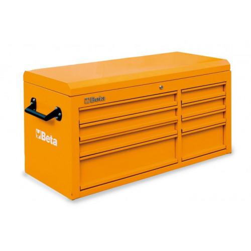 Skrzynie narzędziowe z 8 szufladami i górnym pojemnikiem Beta 3800/C38TO