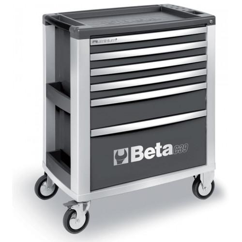 Wózek narzędziowy Beta C39 aluminiowy z 6 szufladami