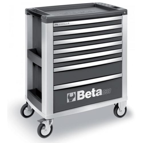 Wózek narzędziowy szary z 7 szufladami Beta 3900/C39-7/G