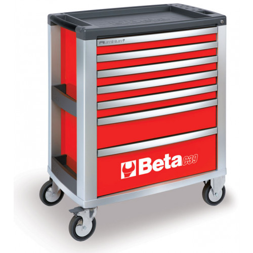 Wózek narzędziowy czerwony z 7 szufladami Beta 3900/C39-7/R