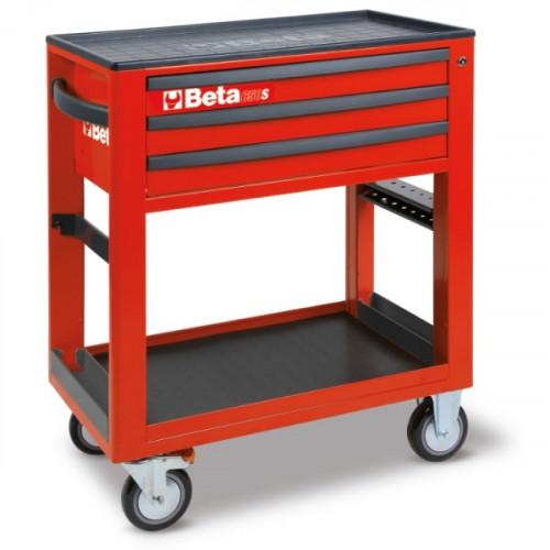 Wózek narzędziowy bez wyposażenia z 3 szufladami Beta C50S-R