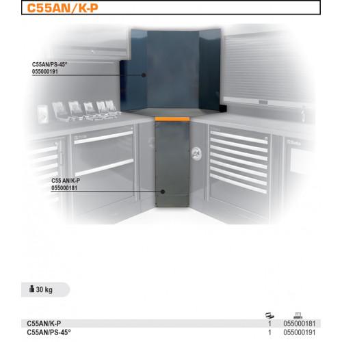 Narożnik wewnętrzny dolny do systemu Beta C55