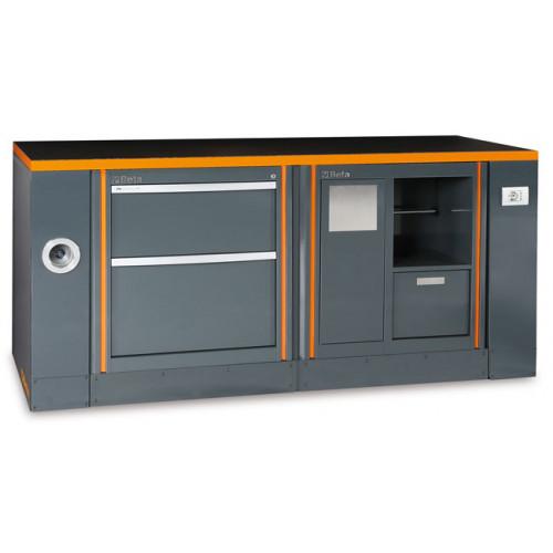 Zestaw stołu warsztatowego z dodatkowym wyposażeniem i 2 modułów stałych Beta 5500/C55-PRO/6