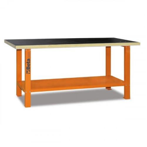 Stół warsztatowy z drewnianym blatem roboczym Beta 5600/C56B-O