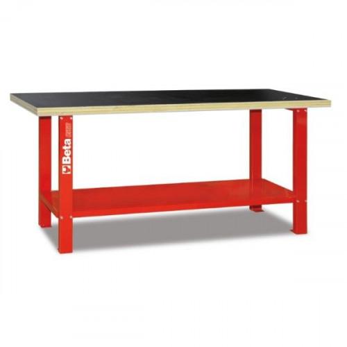 Stół warsztatowy z drewnianym blatem roboczym Beta 5600/C56B-R