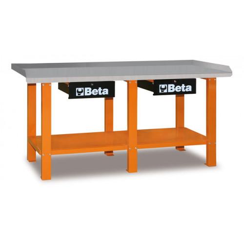 Stół warsztatowy z 2 szufladami i półką Beta 5600/C56O