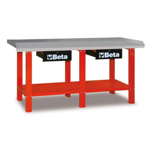 Stół warsztatowy z 2 szufladami i półką Beta 5600/C56R