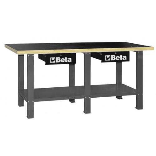 Stół warsztatowy z drewnianym blatem Beta 5600/C56WG