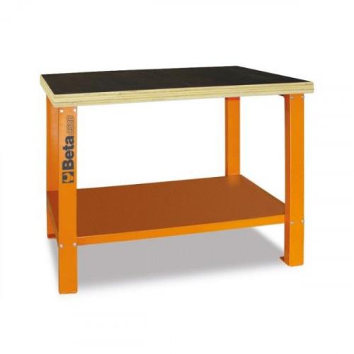 Stół warsztatowy z drewnianym blatem roboczym Beta 5800/C58B-O