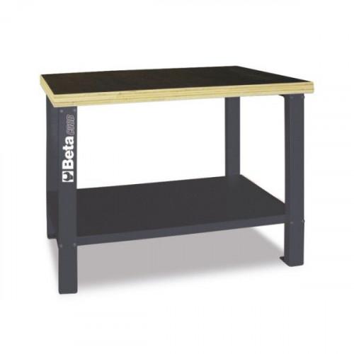 Stół warsztatowy z drewnianym blatem roboczym Beta 5800/C58B-G