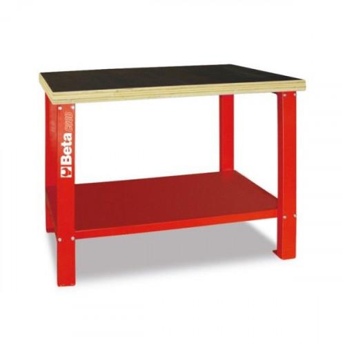 Stół warsztatowy z drewnianym blatem roboczym Beta 5800/C58B-R