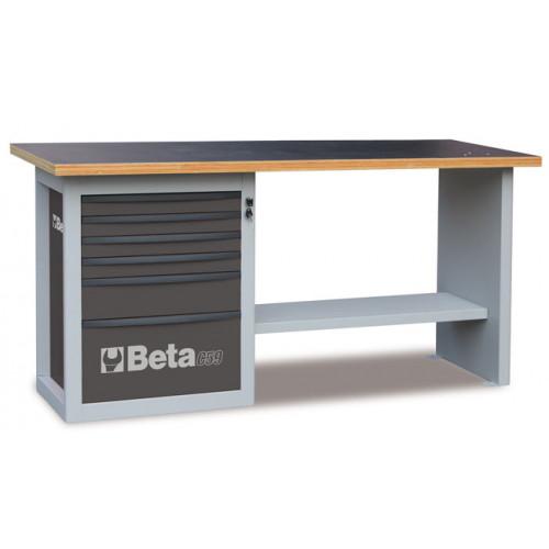 """Stół warsztatowy """"Endurance"""" z 1 szafką narzędziową z sześcioma szufladami Beta 5900/C59AG"""