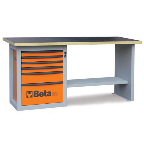 """Stół warsztatowy """"Endurance"""" z 1 szafką narzędziową z sześcioma szufladami Beta 5900/C59AO"""