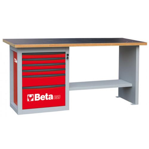 """Stół warsztatowy """"Endurance"""" z 1 szafką narzędziową z sześcioma szufladami Beta 5900/C59AR"""