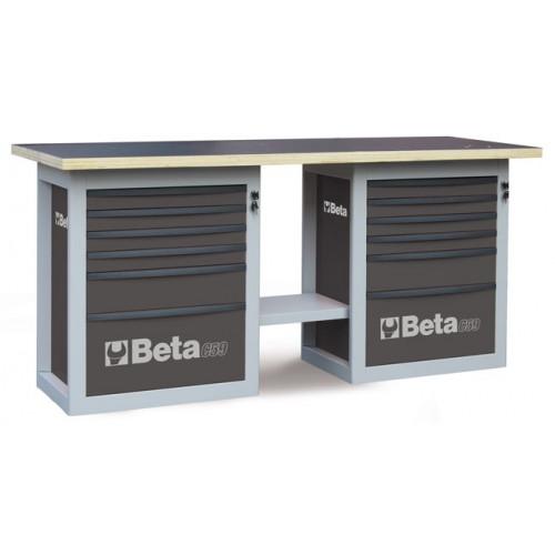 """Stół warsztatowy """"Endurance"""" z 2 szafkami narzędziowymi z sześcioma szufladami Beta 5900/C59BG"""
