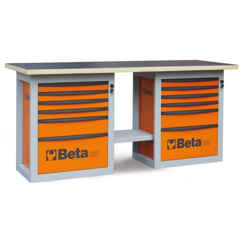 """Stół warsztatowy """"Endurance"""" z 2 szafkami narzędziowymi z sześcioma szufladami Beta 5900/C59BO"""