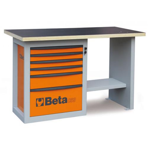 """Stół warsztatowy """"ENDURANCE"""" z szafką narzędziową z sześcioma szufladami, model krótki - Beta C59C - 5900C"""