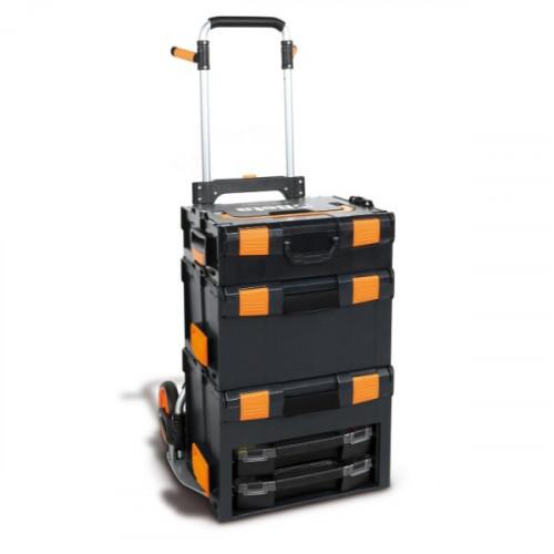 Zestaw skrzynek narzędziowych z wózkiem transportowym Beta 9900/C99