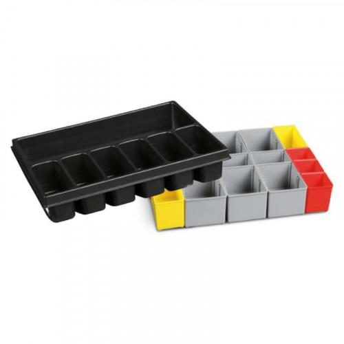 Zestaw tacy na narzędzia z 7 przedziałami i 17 pojemników na drobne elementy Beta 9900/C99TP-V3